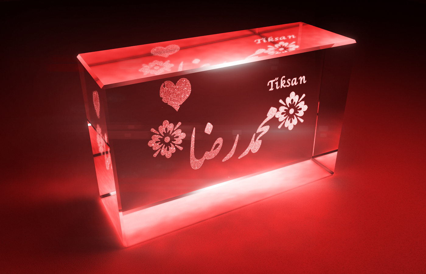 طرح شیشه ای اسم محمد رضا