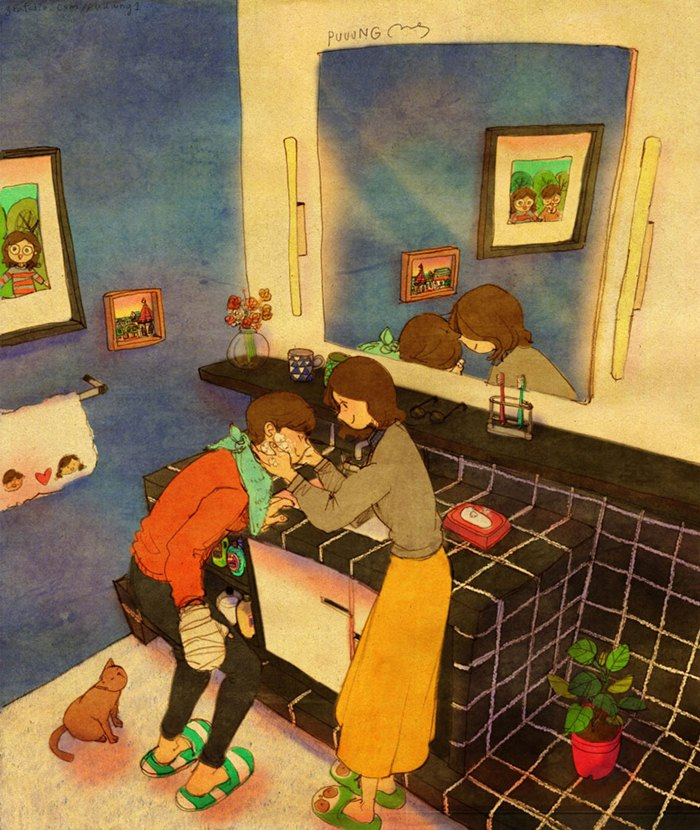 عکس عاشقانه دختر و پسر کارتونی ، عکس عاشقانه دونفره
