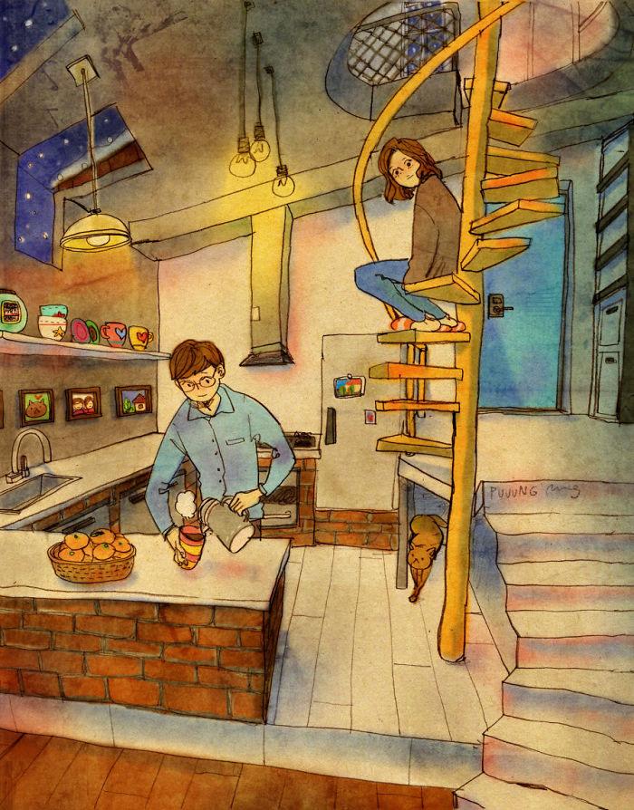 عکس عاشقانه دختر و پسر کارتونی , عکس عاشقانه دونفره